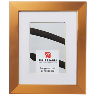 """Bauhaus 125 1.25"""", Matted Stainless Brass Picture Frame"""