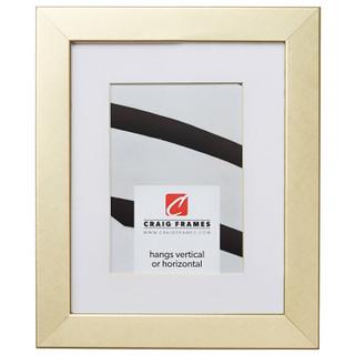 "Bauhaus 125 1.25"", Matted Brushed Gold Picture Frame"