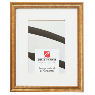 """Stratton .75"""", Matted Aged Gold Picture Frame"""