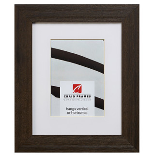 """Driftwood 15 1.5"""", Matted Weathered Black Picture Frame"""