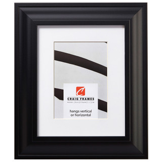 """Upscale 2"""", Matted Satin Black Picture Frame"""