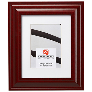 """Upscale 2"""", Matted Red Mahogany Picture Frame"""