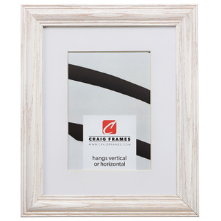 """Wiltshire 440 1.25"""", Matted Whitewash Picture Frame"""