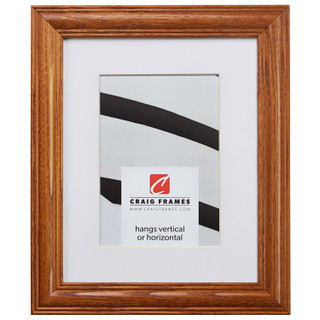 """Wiltshire 440 1.25"""", Matted Mission Oak Picture Frame"""