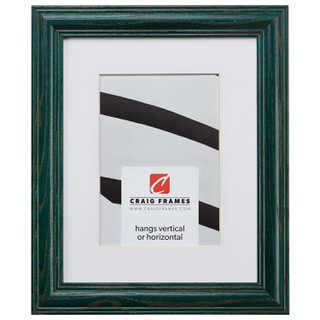 """Wiltshire 440 1.25"""", Matted Hunter Green Picture Frame"""