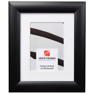 """Contemporary Wide 1.5"""", Matted Gallery Black Picture Frame"""