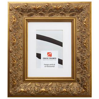 "Borromini 3.5"", Matted Gold & Bronze Picture Frame"