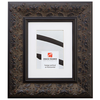 "Borromini 3.5"", Matted Black Walnut Picture Frame"