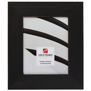"Jasper Wide 2.5"", Rustic Charcoal Black Picture Frame"
