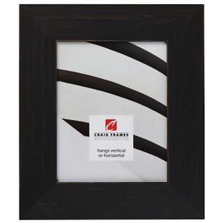 "Jasper Wide 2.5"", Rustic Charcoal Black Picture Frame"