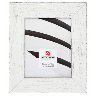 "Jasper Wide 2.5"", Rustic Marshmallow White Picture Frame"