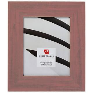 "Jasper Wide 2.5"", Rustic Faded Red Picture Frame"