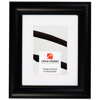 """Vintage Revival 1.75"""", Satin Black Matted Picture Frame"""