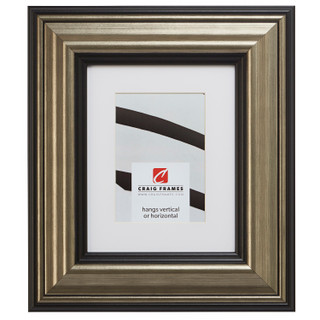 """Sonora 3"""", Canyon Silver and Black Matted Picture Frame"""