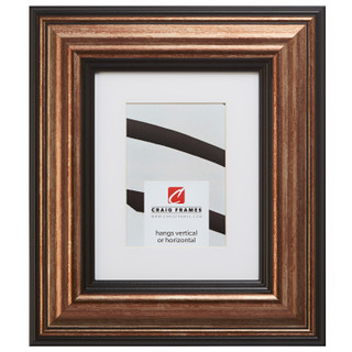 """Sonora 3"""", Canyon Copper and Black Matted Picture Frame"""