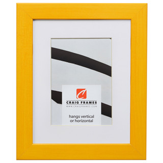 "Colori 125 1.25"", Yellow Matted Picture Frame"