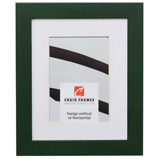 "Colori 125 1.25"", Green Matted Picture Frame"