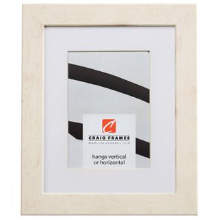 "Bauhaus 125 1.25"", White Pine Matted Picture Frame"