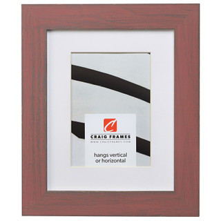 """Jasper 1.5"""", Faded Red Matted Picture Frame"""