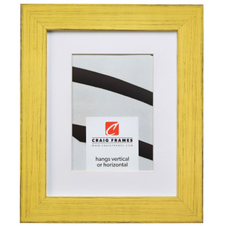 """Jasper 1.5"""", Country Southern Yellow Matted Picture Frame"""
