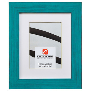 """Jasper 1.5"""", Country French Teal Matted Picture Frame"""