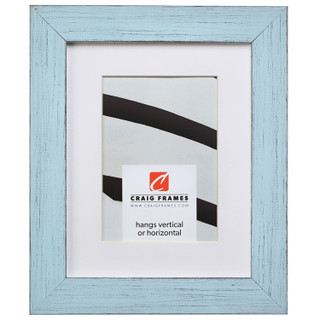 "Jasper 1.5"", Country Sky Blue Matted Picture Frame"