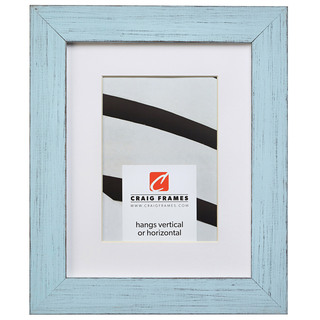 """Jasper 1.5"""", Country Sky Blue Matted Picture Frame"""