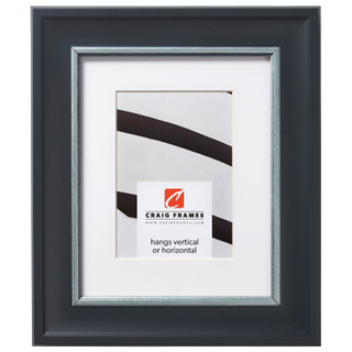 "Martin 2"", Black Velvet and Silver Matted Picture Frame"