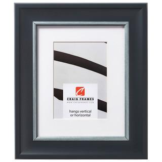 """Martin 2"""", Black Velvet Silver Matted Picture Frame"""