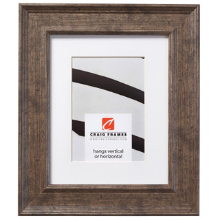 """Revival 2"""", Antique Silver Matted Picture Frame"""