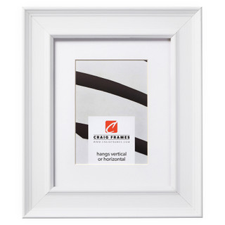 """Revival 2"""", White Faux Oak Matted Picture Frame"""