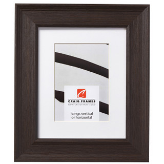 """Revival 2"""", Brown Faux Oak Matted Picture Frame"""