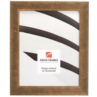 "Patina 125 1.125"", Distressed Copper and Black Picture Frame"