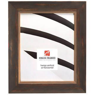 "Aristocrat 1.625"", Distressed Gold and Copper Picture Frame"