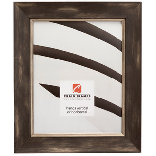 "Aristocrat 1.625"", Distressed Black and Pewter Picture Frame"