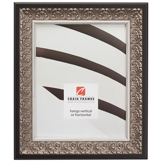 """Furio 1.75"""", Distressed Silver and Black Picture Frame"""