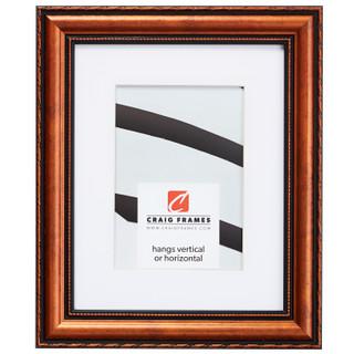 """Victoria 1.375"""", Matted Ornate Copper Picture Frame"""
