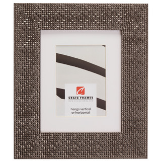 "Glimmer 2.375"", Matted Pewter Picture Frame"