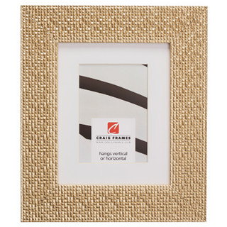 """Glimmer 2.375"""", Matted Champagne Gold Picture Frame"""