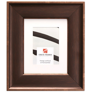 """Resilience Wide 3"""", Matted Distressed Bronze Picture Frame"""