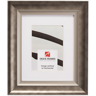 """Ventura 2"""", Matted Pewter and Silver Picture Frame"""
