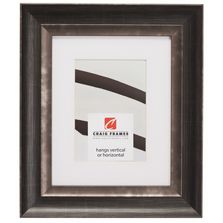 """Ventura 2"""", Matted Aged Silver and Black Picture Frame"""