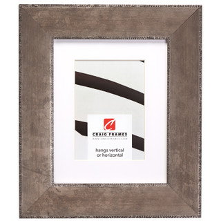 """Patina 225 2.25"""", Matted Distressed Silver Picture Frame"""