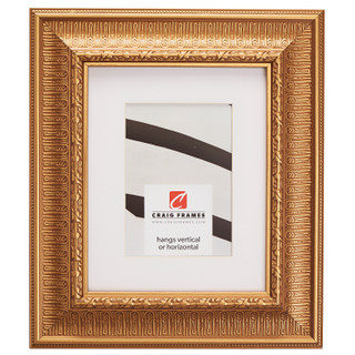 """Maximus 2.625"""", Matted Roman Gold Picture Frame"""
