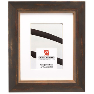 """Aristocrat 1.625"""", Matted Distressed Gold and Copper Picture Frame"""
