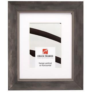 """Aristocrat 1.625"""", Matted Distressed Silver and Grey Picture Frame"""
