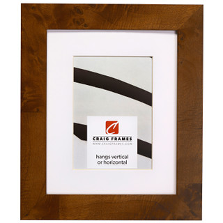 """Innovations 1.5"""", Matted Brown Burl Picture Frame"""