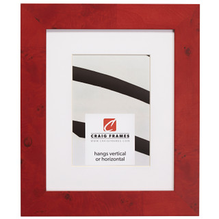 """Innovations 1.5"""", Matted Red Burl Picture Frame"""
