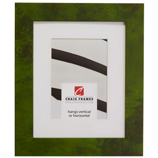 """Innovations 1.5"""", Matted Green Burl Picture Frame"""