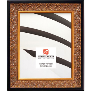 """Furio 1.75"""", Distressed Gold and Black Picture Frame"""
